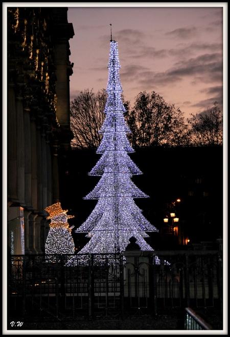 Décorations de Noël sur les grands boulevards