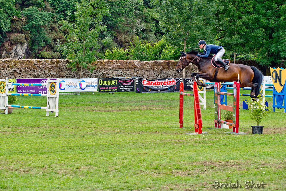 equitation - franchissement obstacle en double 1.40 m