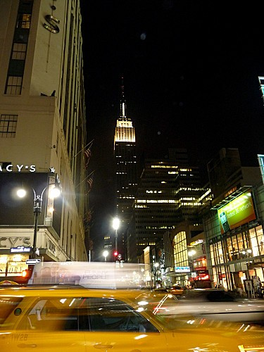 New York taxi flou nuit