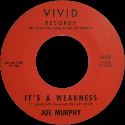 Joe Murphy : Single SP Vivid Records V-106 [ US ]