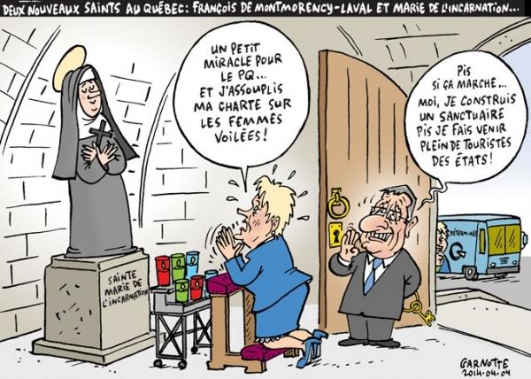 Deux nouveaux saints au Québec - Garnotte 2014.04.04