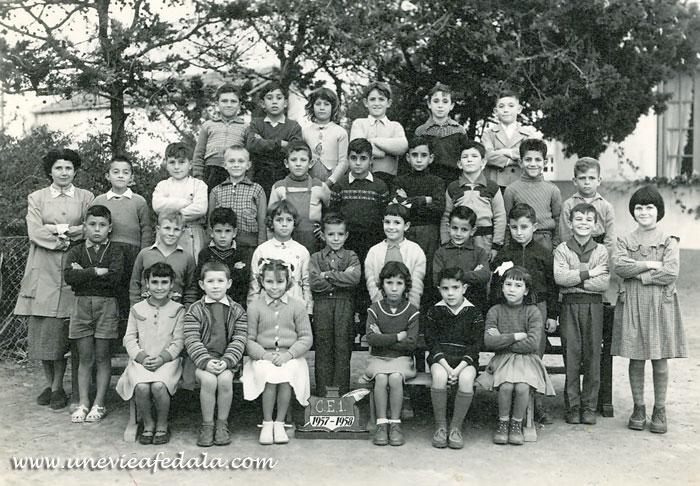 Photo de classe Fedala - ecole du port CE1 - Année scolaire 1957-58