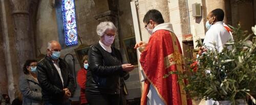 Messe des rameaux à Domérat le Dimanche