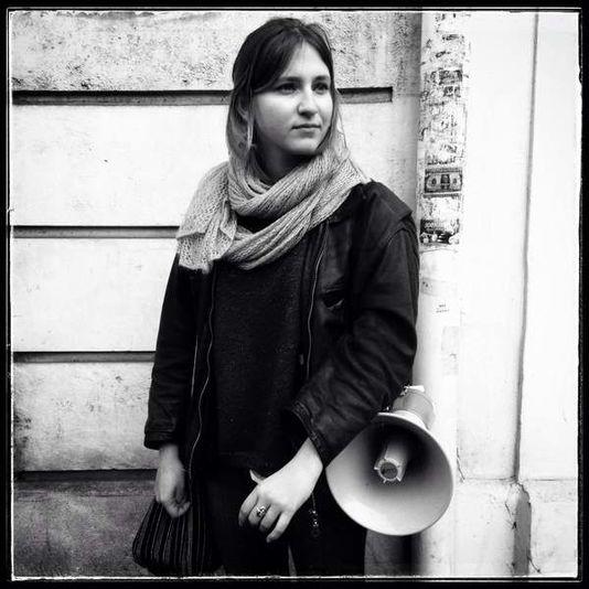 Emma, une lycéenne parisienne de 17 ans mobilisée contre le projet de loi El Khomri.