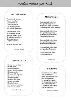 Selection de poèmes