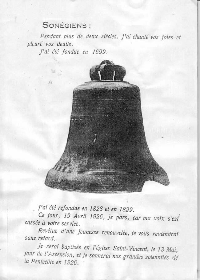 Cloche de 1699