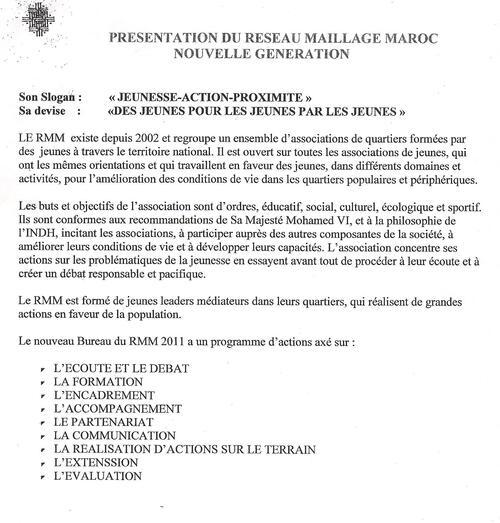 presentation du reseaux maillage maroc