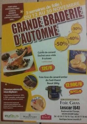 la grande braderie automne 2012 foie gras lescar EURALIS