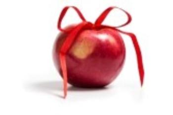 16145516-seule-pomme-rouge-avec-noeud-de-ruban-isole-sur-fond-blanc