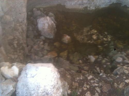 Baignoire naturelle sous roche Montaiguet