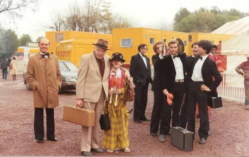 souvenirs du clown Boboss alors Monsieur Loyal du cirque Pinder Jean Richard en 1983