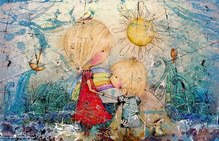 Des œuvres aimables et enfantines de Karin Taylor.