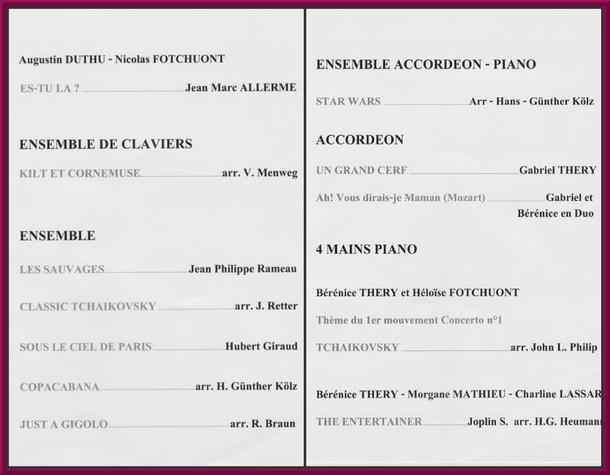 Un beau concert de France-Accordéon a été donné au Salon des Peintres des Amis du Châtillonnais