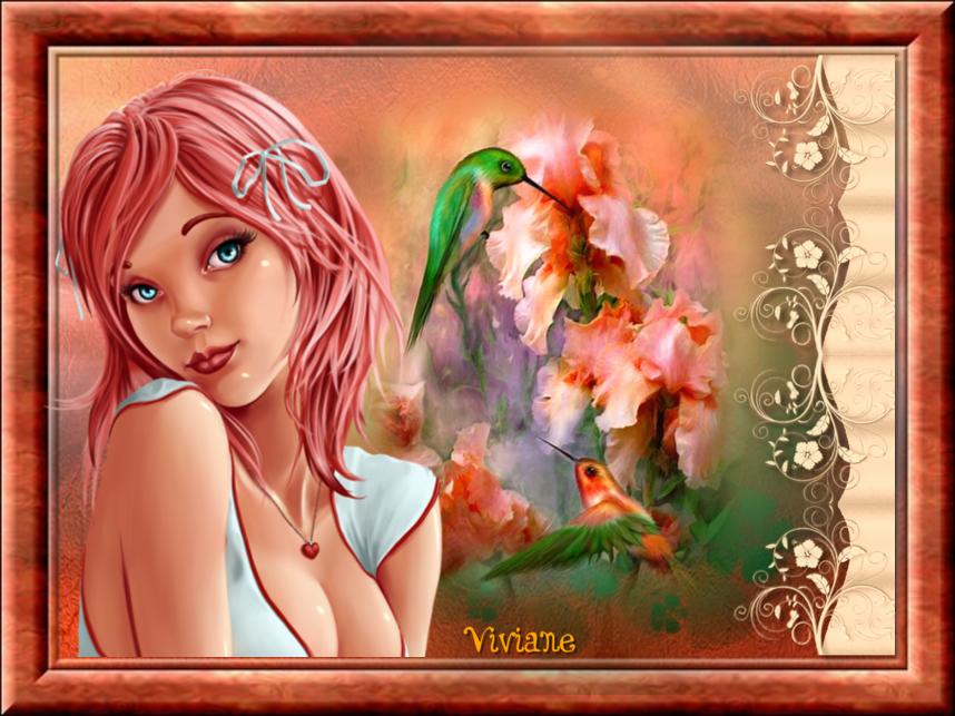 En rose et mauve