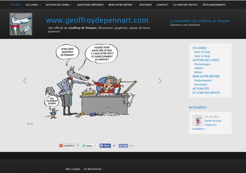 Site internet de Geoffroy de Pennart