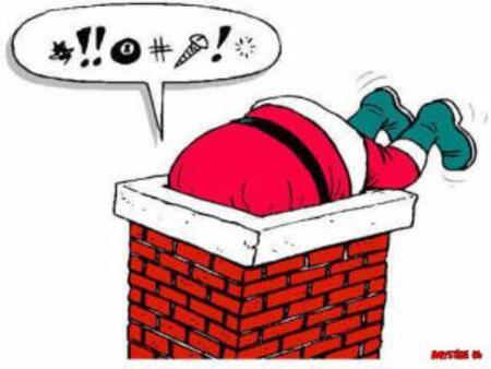 Etre le Père Noël n'est pas sans problèmes !