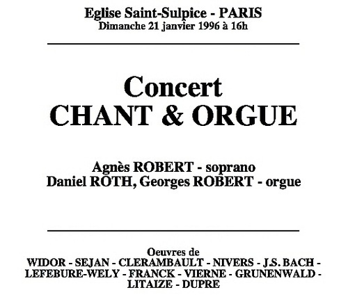 Concert St Sulpice 1996
