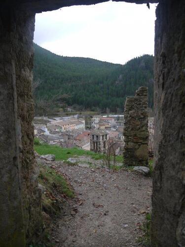 Depuis les ruines des remparts