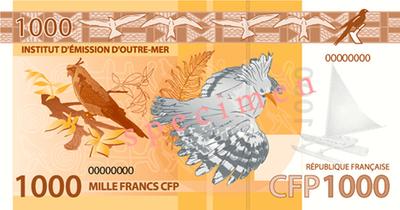 LES NOUVEAUX BILLETS F CFP - FRANCS COLECTIVITE FRANCAISE DU PACIFIQUE