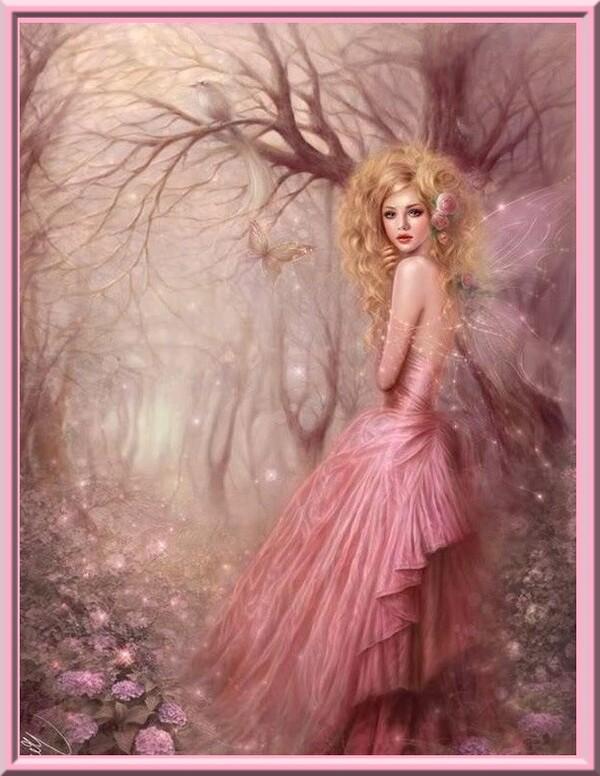 """Défi chez Evy """"La fée rose"""""""