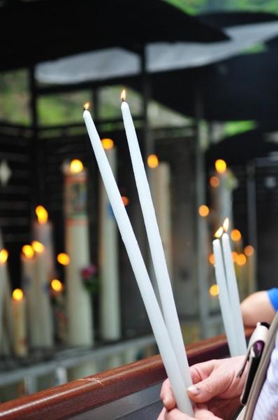 Lourdes : Les cierges