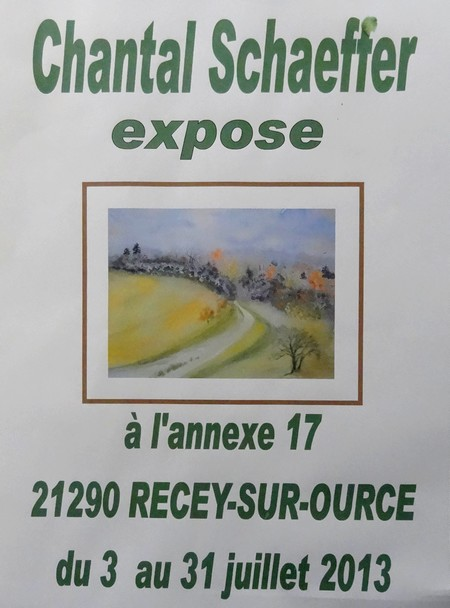 Chantal Schaeffer a exposé à l'Annexe 17 à Recey sur Ource...