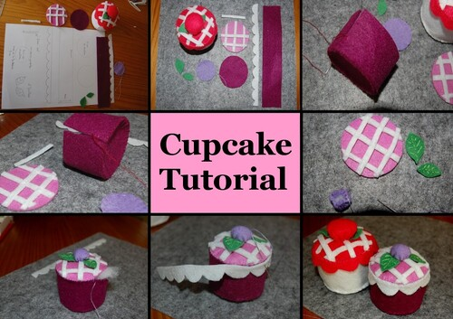 felt cupcake tutorial pattern