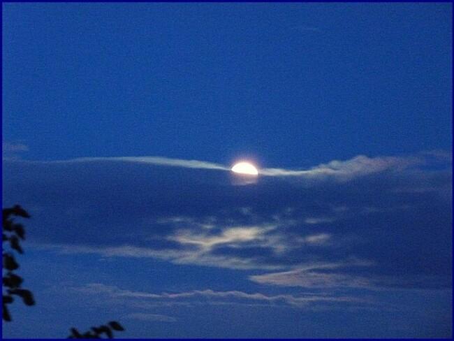 Coucher de lune en Picardie