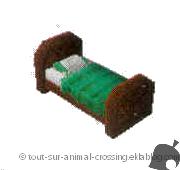 lit vert simple - animal crossing DS