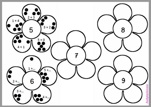 Fiche décomposition des nombres et commutativité de l'addition - MHM