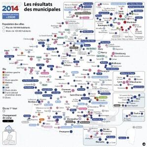 carte rsultats municipales 2014