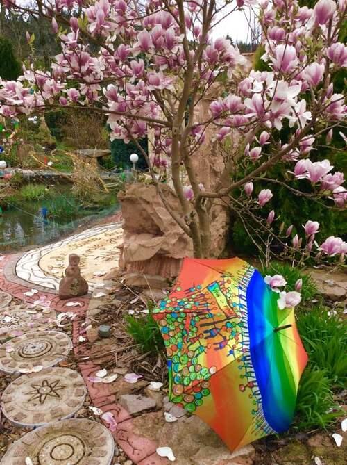 Ombrelles au jardin !