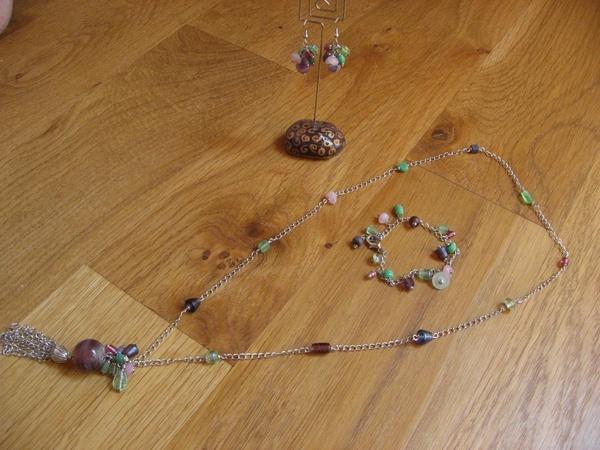parure pastel - perles en verre indiennes