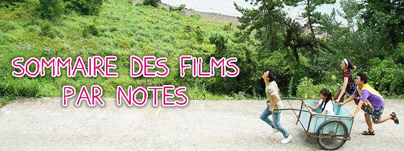 Sommaire des films par notes