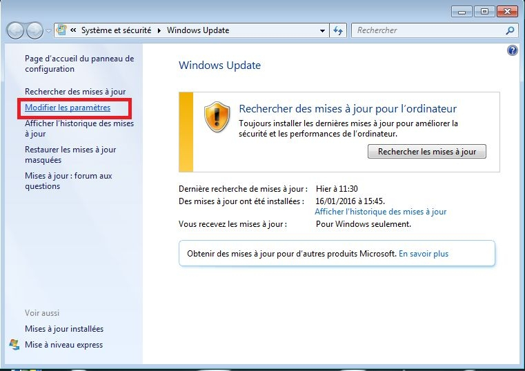 windows update disable 2