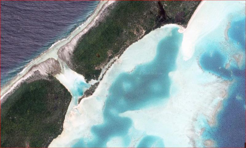 Lagon bleu, Atoll de Fakarava, Tuamotu, Polynésie