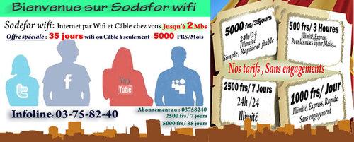 Sodefor wifi
