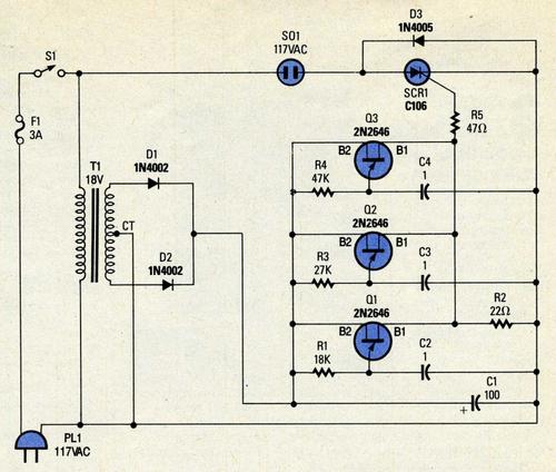 Circuit 1 pour faire papilloter une ampoule
