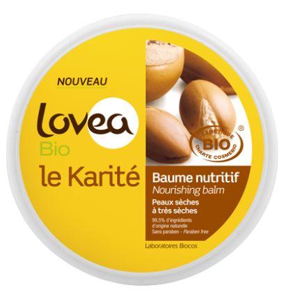 Le baume nutritif karité de Lovéa
