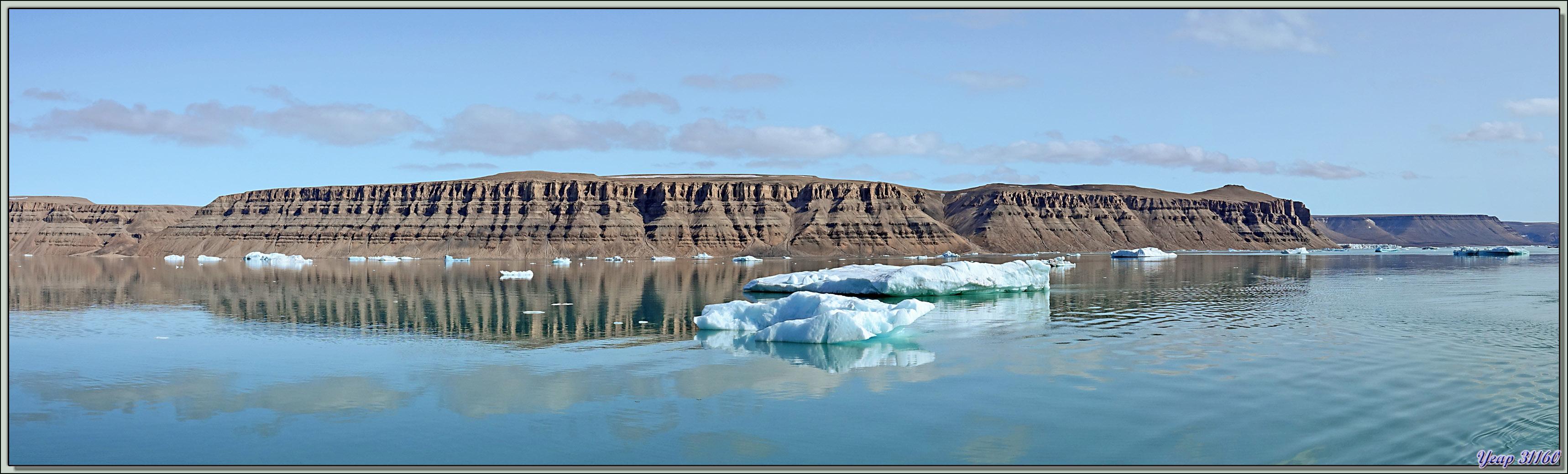 Navigation dans Croker Bay en direction de Dundas Harbour - Devon Island - Nunavut - Canada