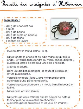 Recette des araignées en chocolat d'Halloween