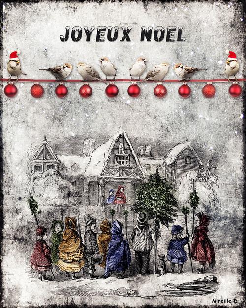 Noël Ancien (Carte colorisée)