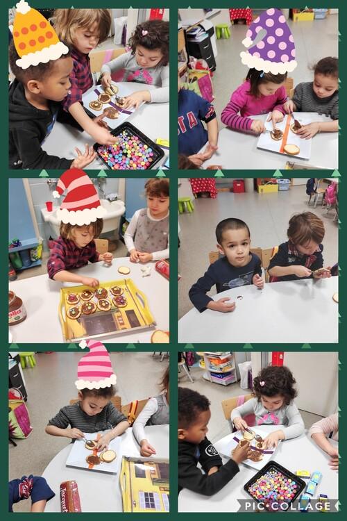 Vendredi 21 Décembre: temps de partage avec les élèves de Virginie en MS.