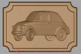 Prototypage par CAO d'un objet souvenir Fiat 500, rendu