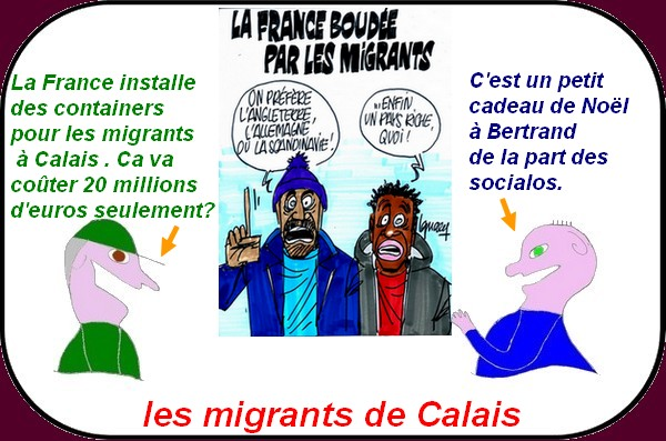 Les migrants en container