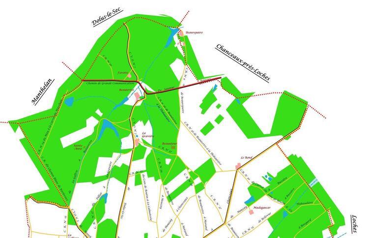 La partie Nord de la commune de Mouzay