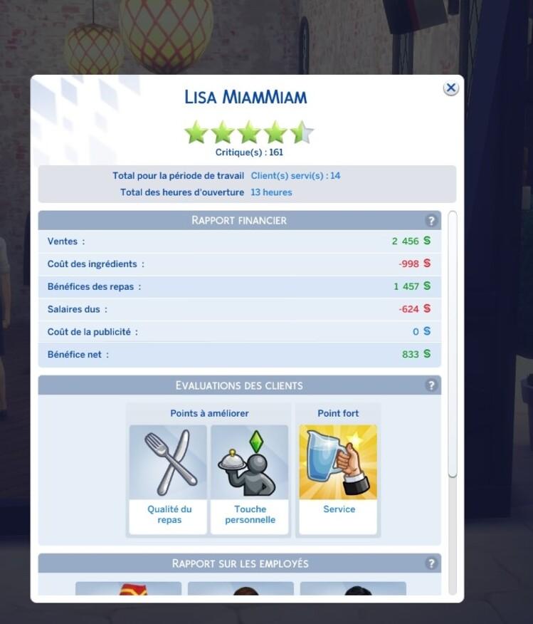 Lisa MiamMiam - 17eme journée et 18eme journée
