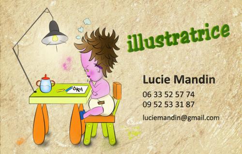 Création d'une carte de visite pour une future illustratrice !