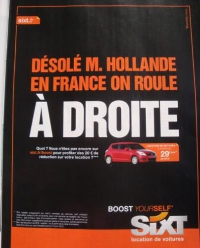 publicité politique Hollande 2 mai