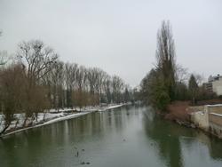 Le parc du Pré La Rose en hiver